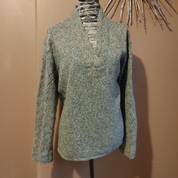 Coldwater Creek sage green v-neck sweater